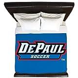 CafePress - Depaul Soccer - King Duvet Cover, Printed Comforter Cover, Unique Bedding, Microfiber