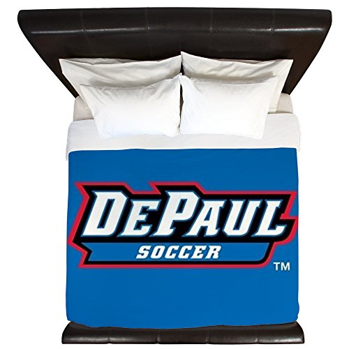 CafePress - Depaul Soccer - King Duvet Cover, Printed Comforter Cover, Unique Bedding, Microfiber by CafePress