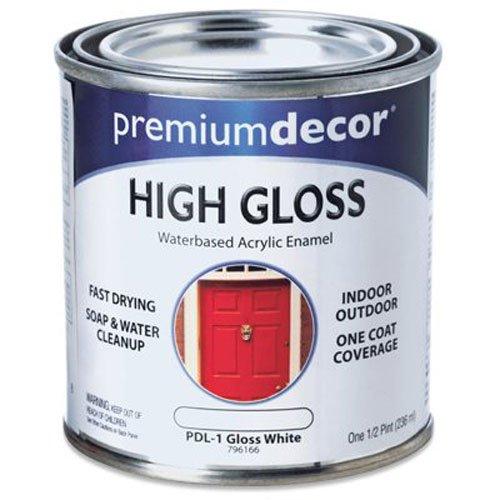 True Value PDL1-HP PD 1/2-Pint White Gloss Enamel ()