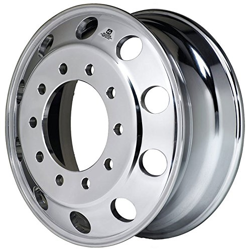 Alcoa 22.5'' x 10.5'' RV 10 Lug Dura Bright Wheel for 365/70r 22.5 (803601DB) by Alcoa