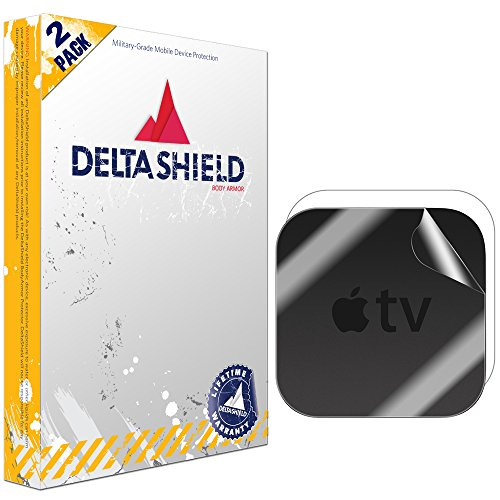 Apple TV Screen Protector (4th Gen,2015)[2-Pack], DeltaShield BodyArmor Full Coverage Back + Front Screen Protector for Apple TV Military-Grade Clear HD Anti-Bubble Film by DeltaShield