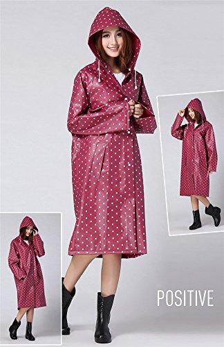 Drasawee chubasquero para silla de ruedas de lunares, capa de ropa resistente al agua portátil impermeable para las mujeres Rosso