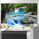 Mznm Custom 3D Mural Wallpaper Chinese Style Waterfalls Landscape Background Wall Painting Living Room Bedroom Home Decor Wall Papers-200X140Cm