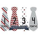 Months in Motion 713 Monthly Baby Stickers Necktie Tie...