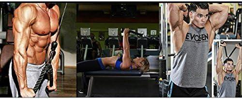 Arm-Krafttraining-Kombinationen f/ür Physiotherapie Rehabilitation kraftvolles Griffkabel mit Karabinerhaken XYZDOUBLE Trizepsseil Trizeps Push Pull Down Seil f/ür Multi Gym und 2X multifunktionales