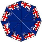 UK National Flag The Union Jack Postmark Custom Foldable Rain Umbrella