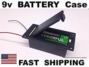 active guitar bass pickups 9v battery holder case box flush even mount 9 volt. Black Bedroom Furniture Sets. Home Design Ideas