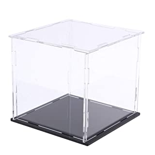 Fenteer Perspex Clear Lid Specimen Hobby Display Boxes Acrylic 50x50x50mm