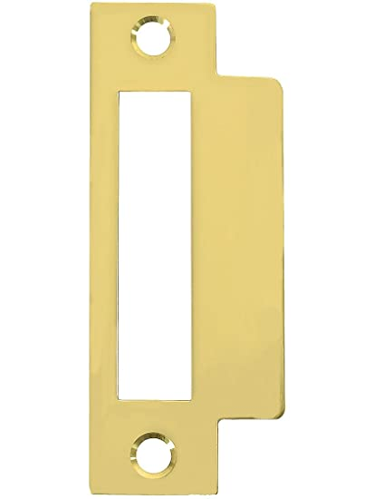 Large Brass Plated Replacement Strike Plate   4 7/8u0026quot; ...