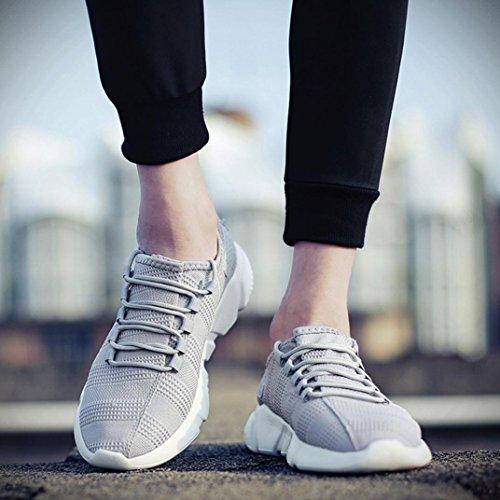 Uomo Beautyjourney Sneakers Grigio Ginnastica Lavoro Casual Corsa Estive Sportive Running Scarpe Da qr1wrtFA