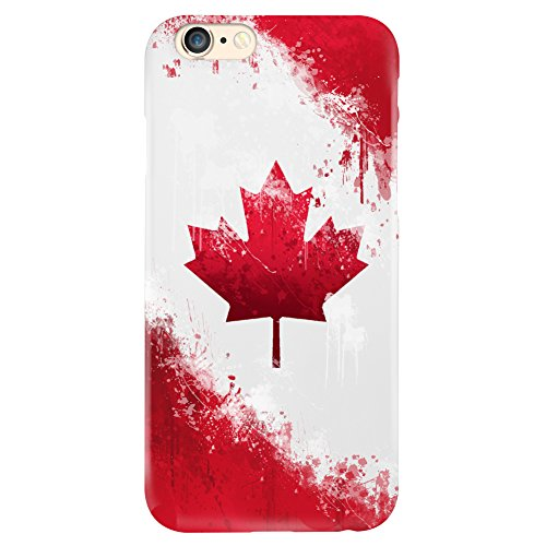 Canada Flag Design Matte Hard Case Cover For Iphone 6 Plus 6S Plus [Scratch Resistant] Canadian (Iphone 6 Cases Canada)