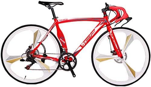 VTSP MC Red 3 Spokes 51 cm 54 cm 700C 14 Gears Men Road Bike Speed Road Bicycle Mechanical Disc Brakes