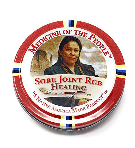 (Sore Joint Rub Healing Salve Ointment for Arthritis, Muscle Pain by Medicine of The People .75 oz (Pack of 3 Tins))
