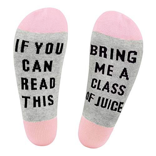 Funny Saying Knitting Word Novelty Cotton Crew Socks Gift for Women Men ()