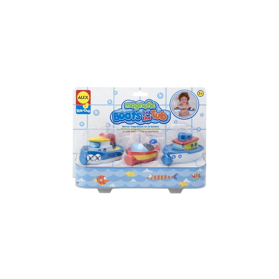 ALEX Toys Rub a Dub Magnetic Boats in the Tub