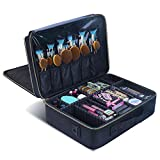 Makeup Travel Case, Makeup Bag Train Case Make Up Organizers And Storage for Cosmetics Jewelry Electronics with Adjustable Shoulder Strap Rose Gold (black)