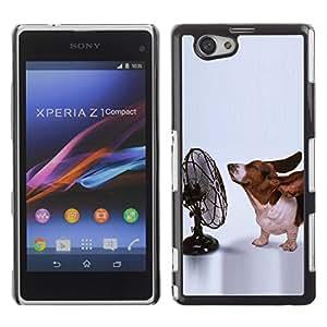 Vortex Accessory Carcasa Protectora Para Sony Xperia Z1 Compact D5503 - Basset Hound Funny Small Dog Ears -