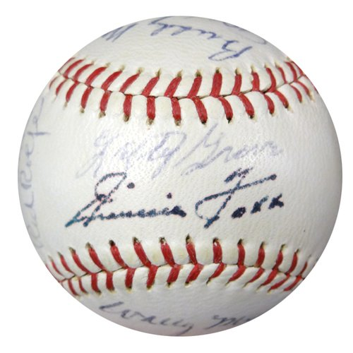 Jimmie-Foxx-Autographed-JSA-Authenticated-AL-Baseball-With-22-Signatures-Including-Jimmie-Foxx-Hank-Greenberg-Lefty-Grove-Joe-DiMaggio-Authentic-Autograph-Signature-Signed-Baseballs