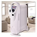 SKB family Portable 700W Electric Oil Filled Radiator Heater Thermostat Room Radiant Heat