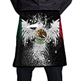 The New Mexican Flag Home Cooking Kitchen Half Body Waist Aprons Sewing Pocket Apron