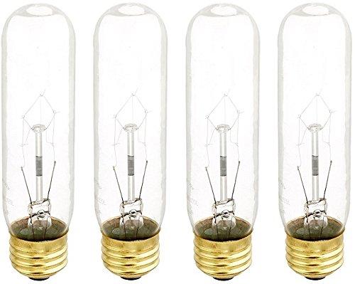 - Bulbrite B60T10C 60-Watt Incandescent T10 Tubular Bulb, 120V, Clear (4)