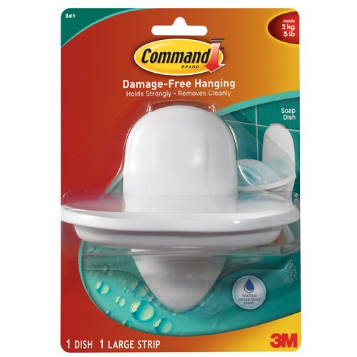 Command Soap Dish With Water Resistant Strip 1 Dish 1