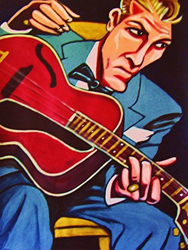 EDDIE CONDON PRINT POSTER man cave guitar cd lp record album vinyl Gibson tenor guitar all stars mosaic collection dixieland jam