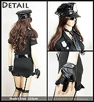 Policia Minifalda conjunto de 7 piezas atractiva (liguero con el ...