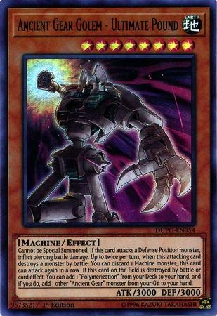 Yu-Gi-Oh! - Ancient Gear Golem - Ultimate Pound - DUPO-EN054 - Ultra Rare - 1st Edition - Duel - Gear Ancient Card