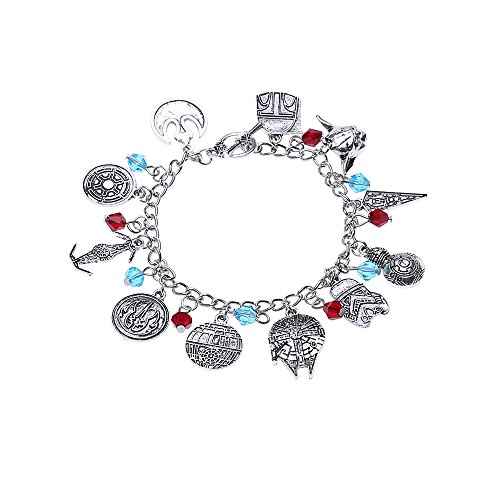 LUREME Star Wars Bracelet with Multi Charms Bracelet Best Gift for Movies Fans (bl003116) (Star ()
