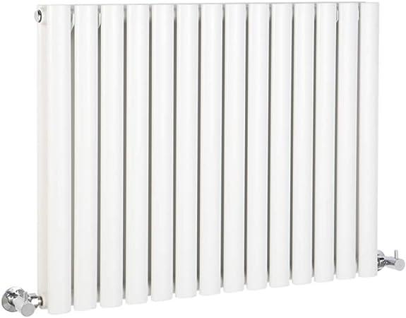 Hudson Reed Vitality Radiateur Design Horizontal 63,5 x 59 cm Double Rang Blanc