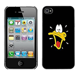 CASEMAX Slim Hard Case Cover Armor Shell FOR iPhone 4 / 4S- BLACK CARTOON DUCK