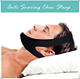 Anti Snoring Chin Strap Devices - Stop Snoring Sleep Aid Devices - Best Anti Snoring Solution - Anti Snore Devices for Effective Snore Relief - Adjustable Anti Snore Chin Strap for Men Women