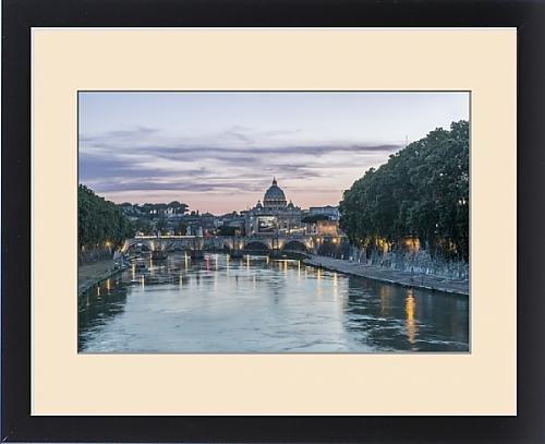 Framed Print of Europe, Italy, Rome, Tiber River Sunset by Fine Art Storehouse