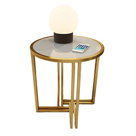 Amazon.com: Mesa auxiliar de metal Xiaoyan, mesa auxiliar de ...
