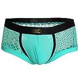 "Freebily Men's Openwork Mesh Fishnet Breathable Thongs Bikini Swimwear Underwear Sky Blue Medium (Waistline 28.0-38.0"")"