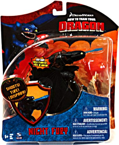 How To Train Your Dragon Movie Series 3 Deluxe 7 Inch Action Figure Night Fury Version 3 Shoots