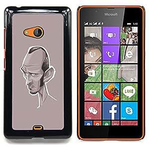 - Caricature Writer Actor Hollywood/ Duro Snap en el tel????fono celular de la cubierta - Cao - For Microsoft Nokia Lumia 540 N540
