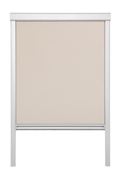 Lichtblick Dachfenster-Rollo Skylight, 61,3 x 94,0 cm (B x L) in Creme, 100 % Verdunkelung, Thermo-Rollo für Velux-Fenster, S