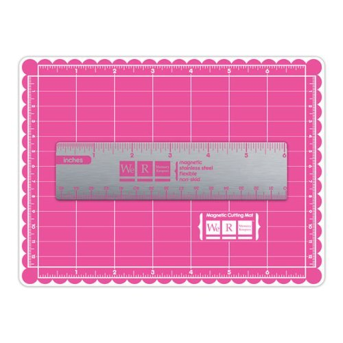 Tools and Accessories We R Memory Keepers Crafters Mini Magnetic Mat and Ruler by We R Memory Keepers