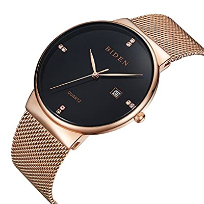 Watches,Mens watches,Womens Casual,Waterproof Simple Analog Quartz Dress Wrist Watch With Mesh Milanese Bracelet by ALPS