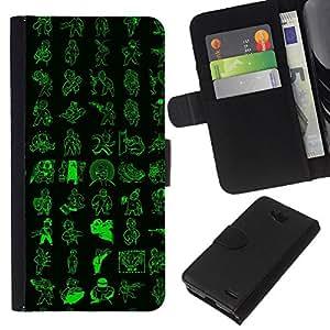 LECELL--Cuero de la tarjeta la carpeta del tirón Smartphone Slots Protección Holder For LG OPTIMUS L90 -- Patrón de Vault Boy --