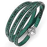 Holyart Amen bracelet I love you, green, 60 cm (23.64 inc.)