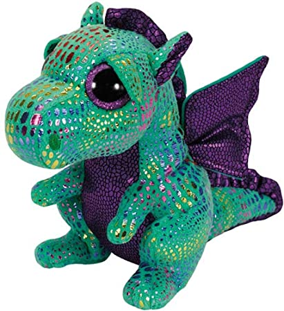 92552e429e8 Image Unavailable. Image not available for. Color  Ty Beanie Boos Cinder  The Green Dragon Plush