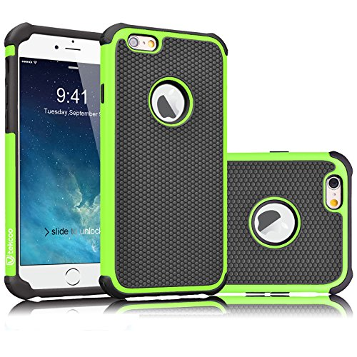 - Tekcoo iPhone 6S Case, Tekcoo iPhone 6 Sturdy Case,[Tmajor] for iPhone 6 / 6S (4.7 INCH) Case Shock Absorbing Impact Defender Slim Cover Shell w/Plastic Outer & Rubber Silicone Inner [Green/Black]