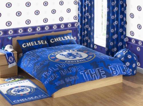 . Zap Chelsea Blue Crest Duvet Set  Double  Amazon co uk  Kitchen   Home