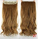 french twist hair accesory - dolly2u 60cm Synthetic Clip In Hair Extension Heat Resistant Hairpiece Natural Curly Wavy Hair Extensions#9