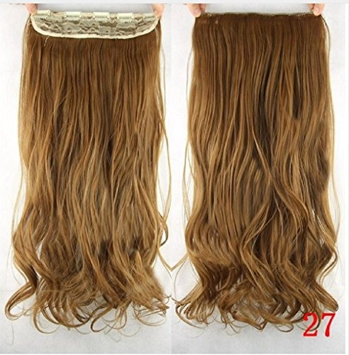 [dolly2u 60cm Synthetic Clip In Hair Extension Heat Resistant Hairpiece Natural Curly Wavy Hair] (Sally From Cars Costume)