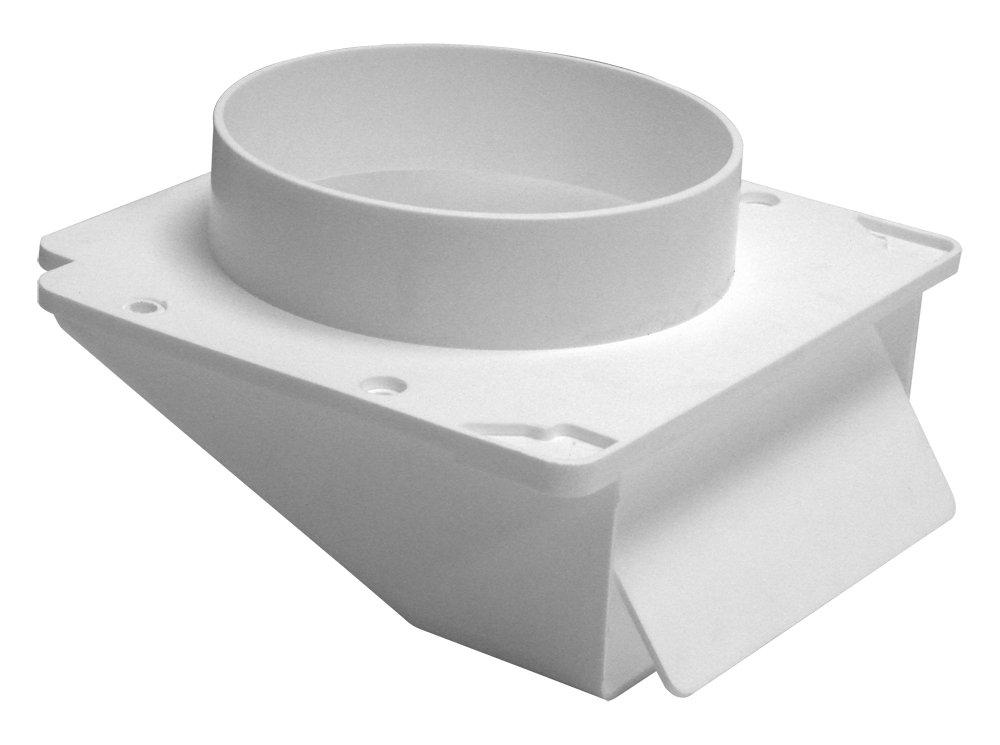 Lambro 153W White Plastic Under Eave Vent, 3-Inch