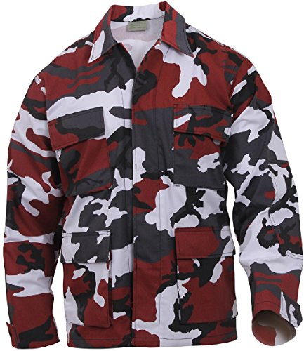 Military BDU Shirt Tactical Uniform Army Coat Camouflage Army Fatigue Jacket ()